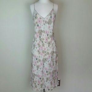 J. Crew silk floral slip dress